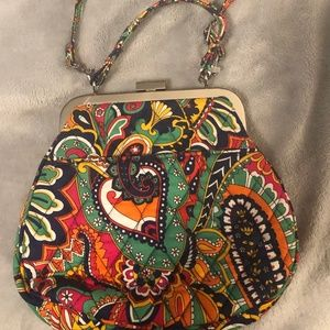 Vera Bradley large coin purse with strap- Excellen